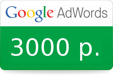Coupon, promocode Google Ads (Adwords) 3000 rub. Russia