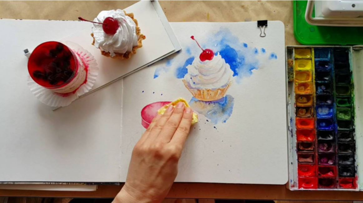 Sketch Watercolor Desserts 2019