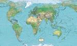 Карта мира в векторе на английском, формат Ai