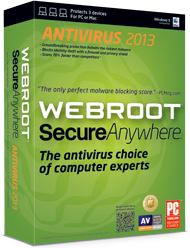 WebRoot SecureAnywhere ™ AntiVirus 2013: a key for 90 days