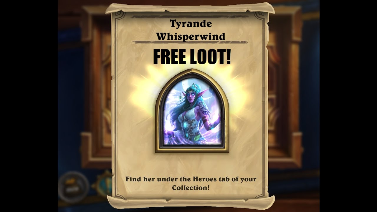 Hearthstone Tyrande hero portrait skin and shirt