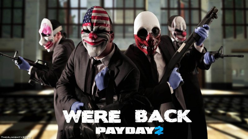 Payday 2 + 9 Free DLC (Steam region free; ROW gift)