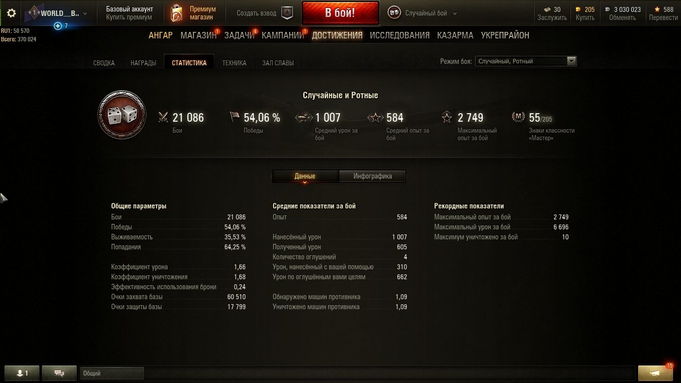 World of Tanks [wot] Account