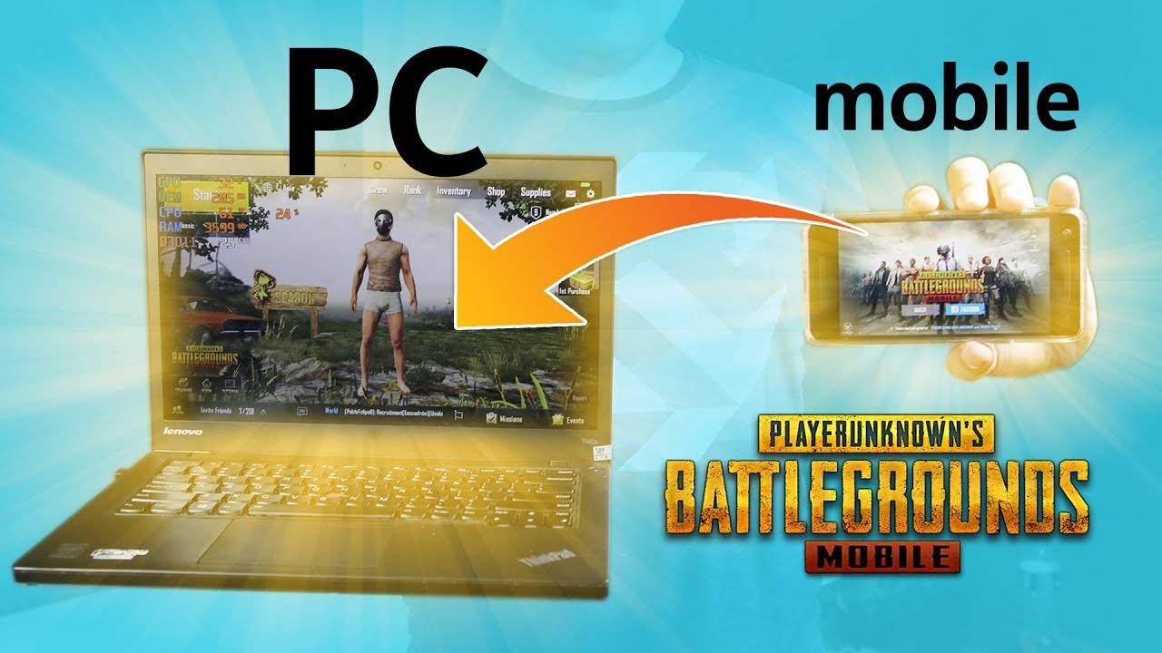 PUBG MOBILE instruction how to play on the computer