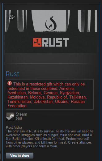 Rust (RU/CIS) - Steam Gift + Bonus to all