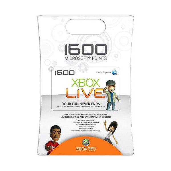 Xbox LIVE 1600 Points - USA + DISCOUNTS