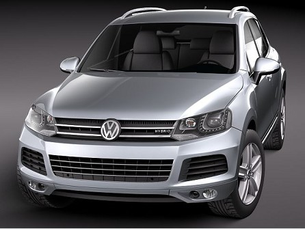 Volkswagen Touareg 2011 model 3DS