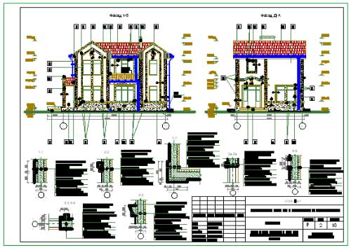 Project of residential two-storey cottage