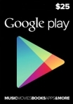 GOOGLE PLAY GIFT CARD $25 (USA)