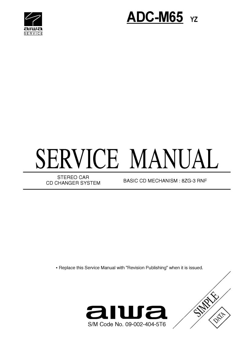 Car audio SERVICE MANUAL AIWA ADCM
