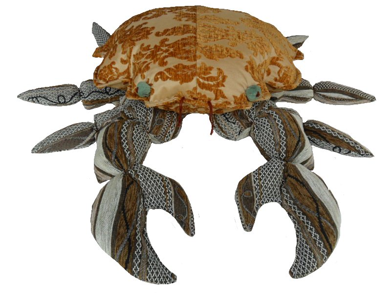 Production of decor. Pillow Crab
