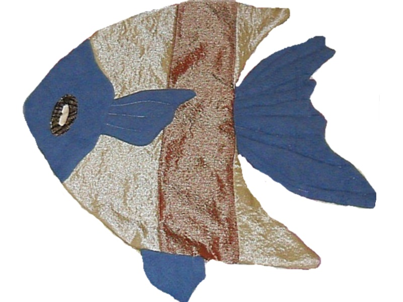 Production of decor. Pillow Fish