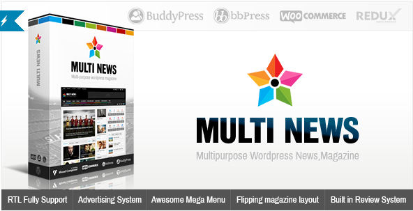 Multi-purpose Wordpress   - Multinews v.2.5.2