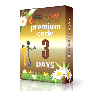 Unibytes premium code to buy 3 days Instantly