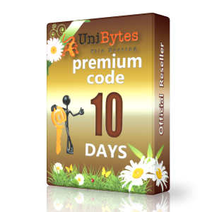 Unibytes premium code 10 days to buy Instantly