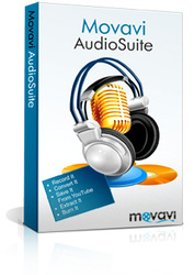 Movavi Audio Suite package for processing audio files