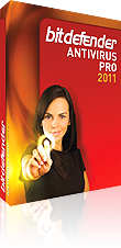 BitDefender Antivirus Pro 2011 3 PC protection for 12 months.