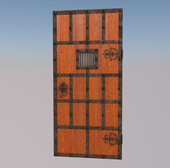 Ancient Door 3D Model