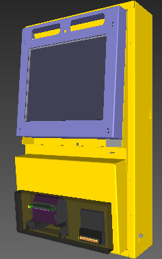 Assembly drawings Wall payment terminal.
