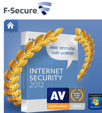 F-Secure Internet Security + Online Backup PK1 9 months