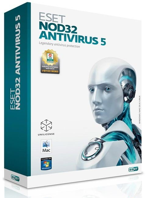 ESET NOD32 Antivirus 2CO 1year or 20 month extension BOX