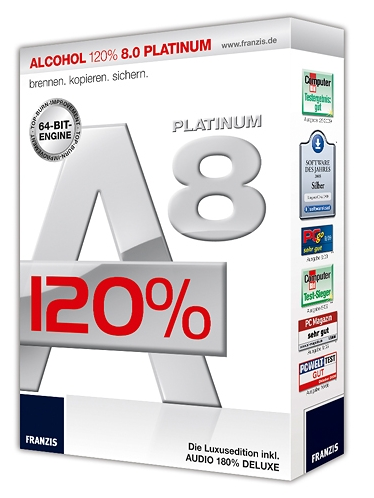 Alcohol 120% 8 Platinum incl Audio 180% DELUXE  FULL