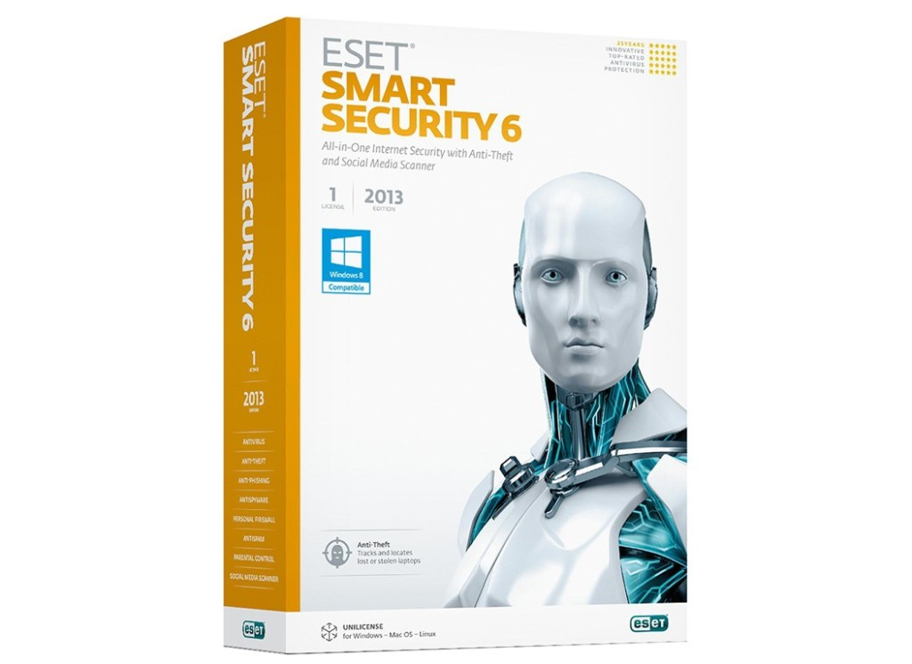 ESET NOD32 SMART SECURITY 9 1PC 1 YEAR + SOB + GIFT/NEW