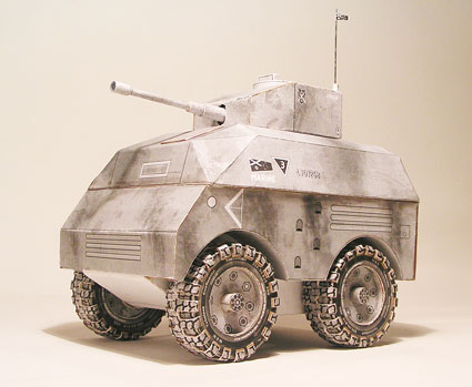 №12 2010. The armored car armored with 85 mm cannon.