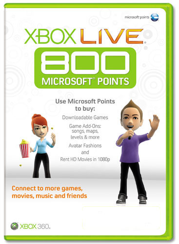 XBOX LIVE - EUR / RUS 800 MS points (official), scan