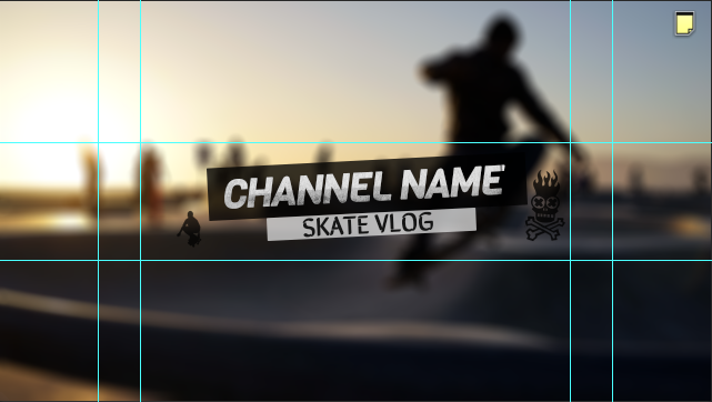 skate blog youtube channel art