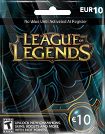 League of Legends 10 Euro Card EU West