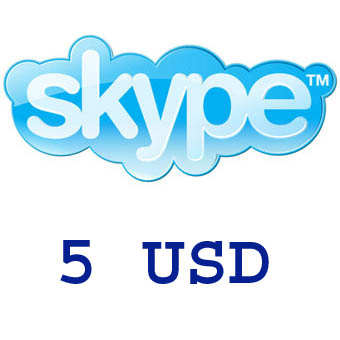 SKYPE - ORIGINAL voucher for USD 5