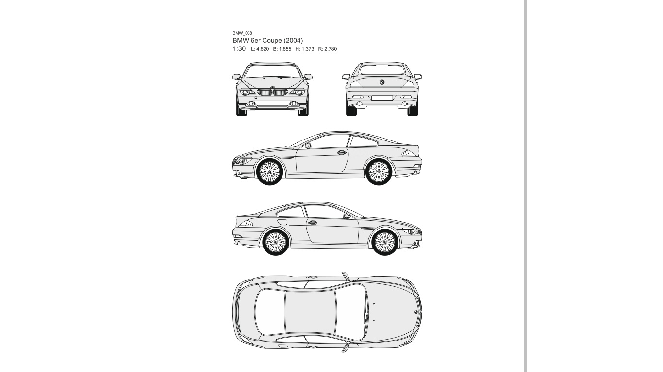 Vector drawings of cars - BMW
