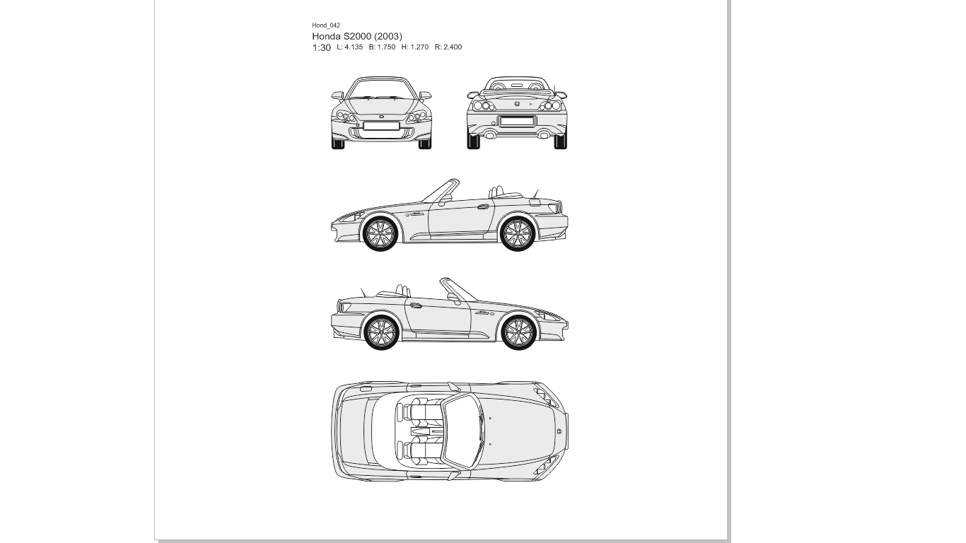 Vector drawings of cars - Honda