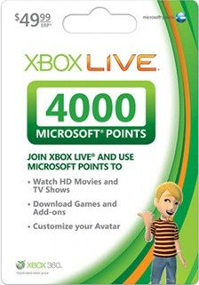 XBOX LIVE 4000 MS Points Card (USA/EU/AU/RU) - СКИДКИ