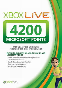 XBOX LIVE 4200 MS Points Card (EU / RU) + GIFT