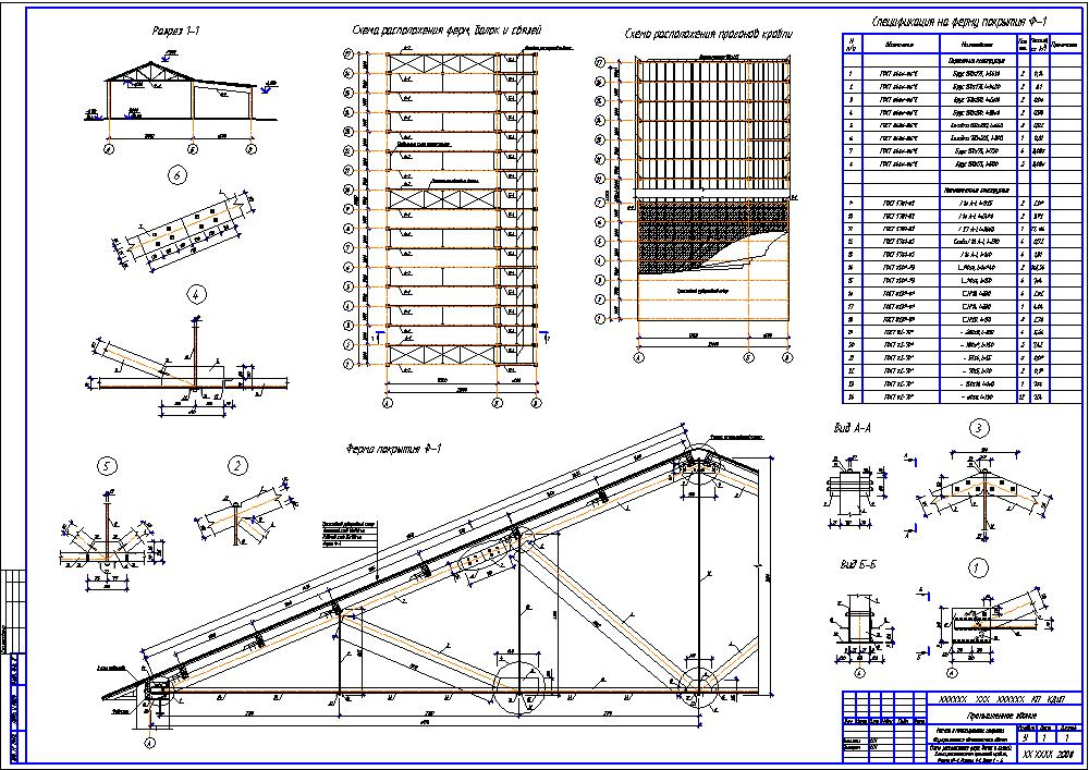 Wood construction (005). Calculation of coverage