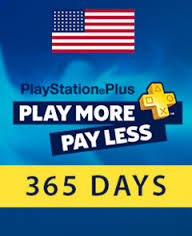PLAYSTATION PLUS CARD 365 DAYS US (ONLY USA ACC)