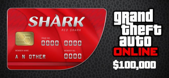 GRAND THEFT AUTO RED SHARK 100 000$ REGION FREE