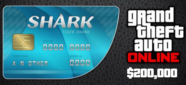 GRAND THEFT AUTO TIGER SHARK CASH (200000$) REGION FREE