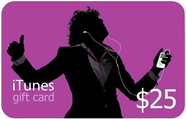 iTunes GIFT CARD 25$ USA / SCAN
