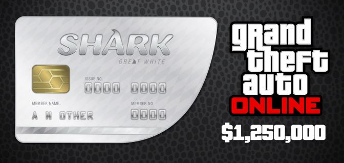 GRAND THEFT AUTO 5 RU + GREAT WHITE SHARK (1 250 000$)