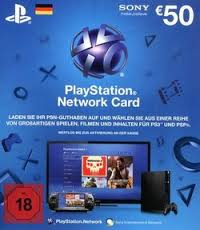 PLAYSTATION NETWORK CARD (PSN) 50€ DE (GERMANY) SCAN