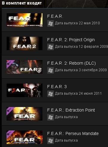 FEAR Complete Pack F.E.A.R. Collection STEAM GIFT RegFr