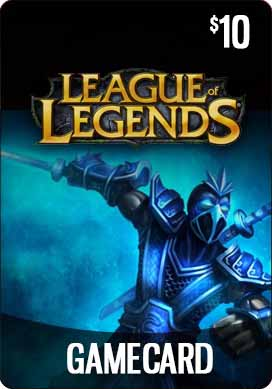 League of Legends $10 Gift Card - 1380 RP - NA server