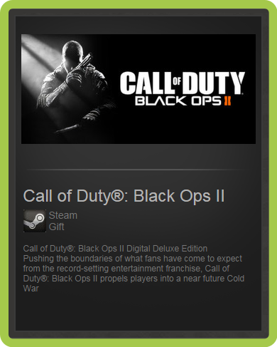 Call of Duty - Black Ops II Deluxe (ROW) - steam gift
