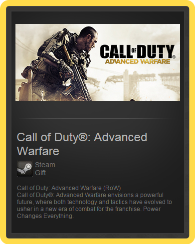 Call of Duty: Advanced Warfare (ROW) - steam gift