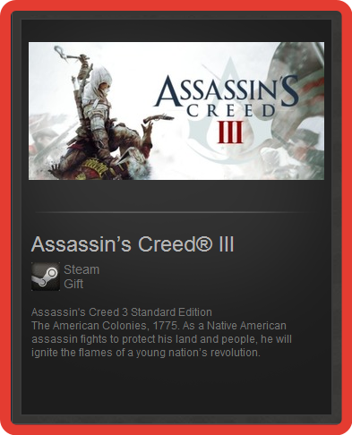 Assassin´s Creed III 3 Standard Edit (ROW) - steam gift