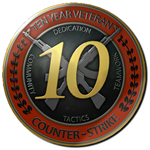 6 dig 2003y + First email +10 year veteran CS GO Medal