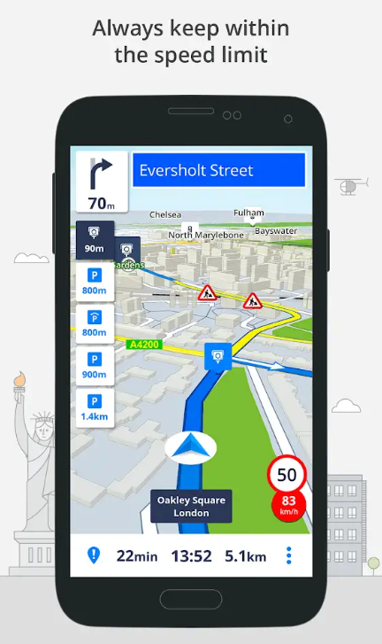 Sygic GPS Navigation Premium +Traffic World for Android